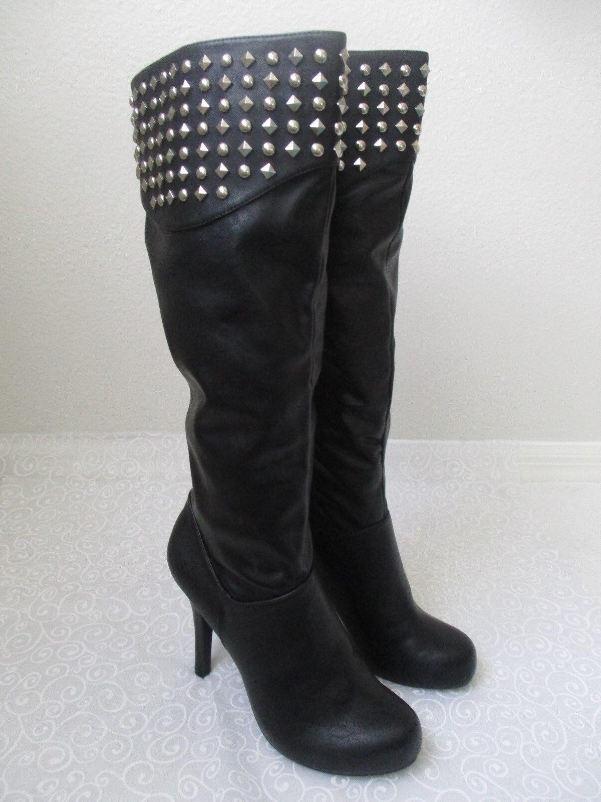 179 botas de alto BCBGENERATION Negro Studd Kee tamaño tamaño tamaño 10 M-Nuevo  solo para ti