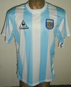 b2fded646 RETRO VINTAGE ARGENTINA WORLD CUP 1986 MARADONA  10 SOCCER JERSEY ...