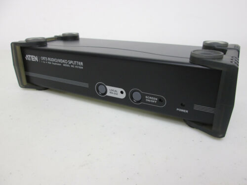 Aten VS1504 4 8 Port Cat 5  Video //Audio Splitter