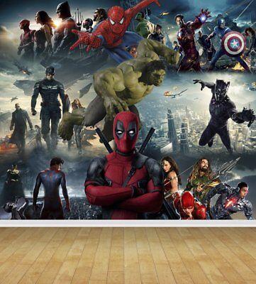Avengers Super Hero Wall Art Wall Mural Any Size Self Adhesive Vinyl Decal 2