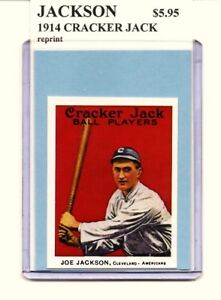 Details About Shoeless Joe Jackson Cleveland Indians 1914 Cracker Jack Rookie Card