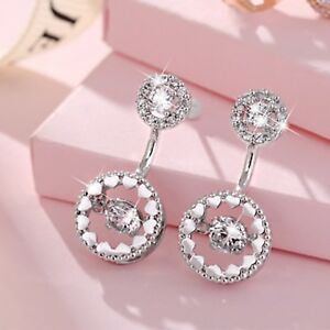 18k-white-gold-gf-made-with-SWAROVSKI-crystal-stud-round-earrings-925-silver-pin