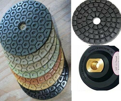 "5/"" Diamond Polishing 13 Pad 2 Grinding cup stone concrete mortar tile smoothing"