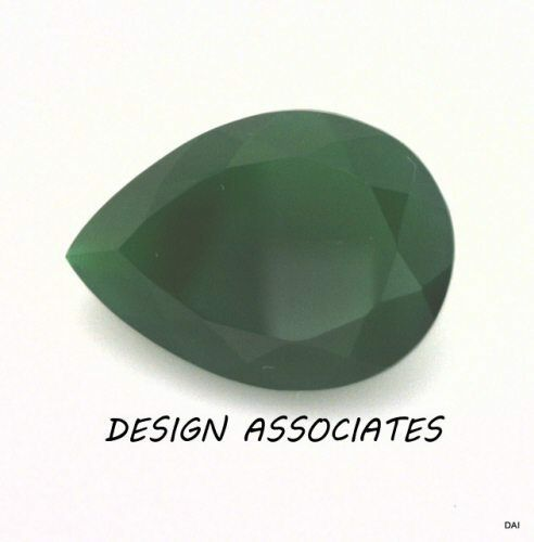 8x6 MM OVAL CUT NATURAL GREEN ONYX  ALL NATURAL AAA 4 PC SET CAB