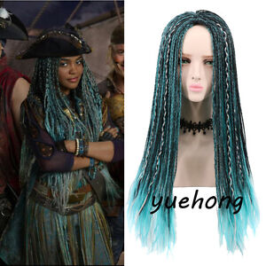Details about Descendants 2 Uma Cosplay Wig Braided Synthetic Fashion  Costume Wigs For Women