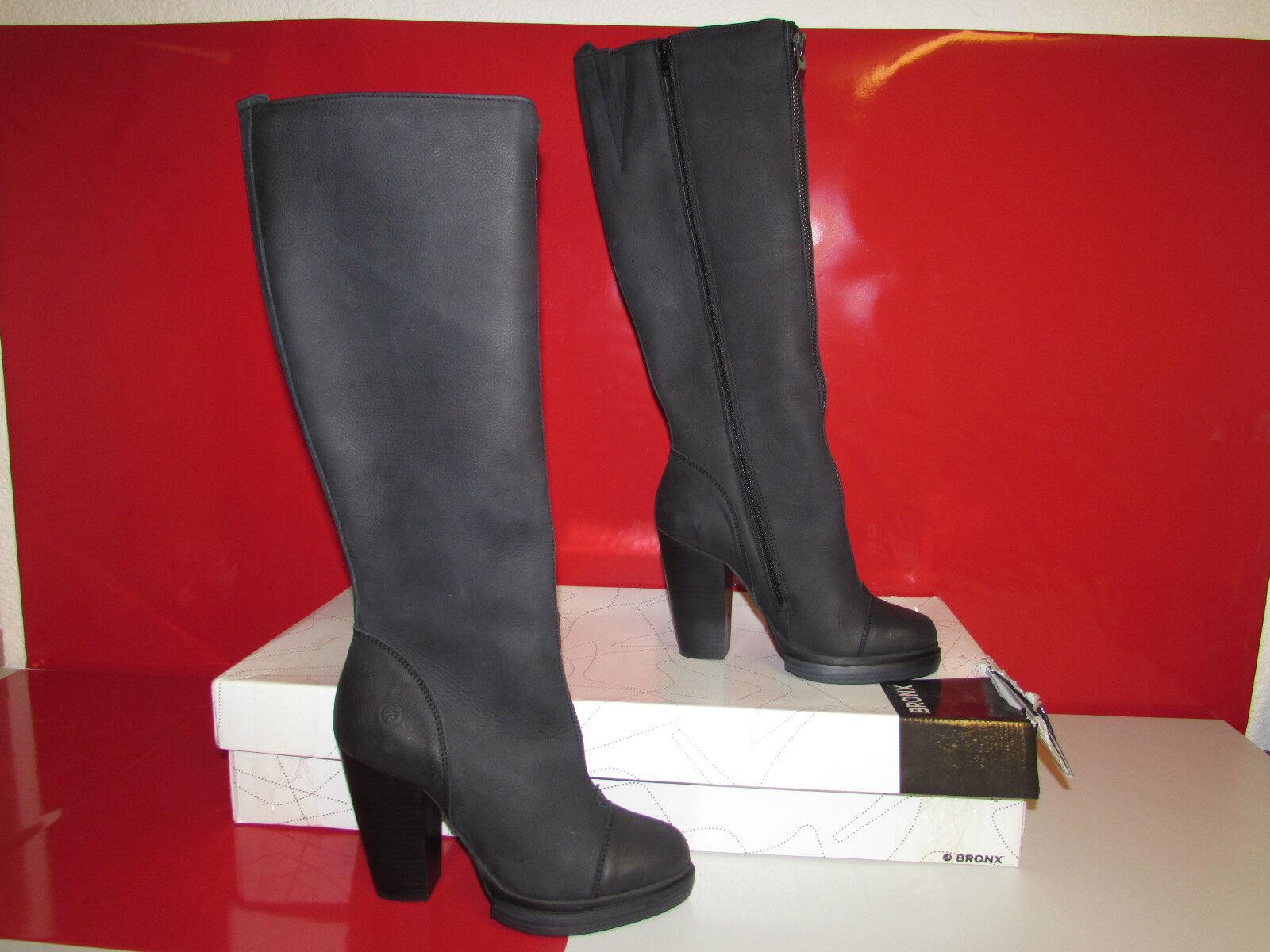 Bronx BX 566 Damen Langschaft Stiefel, Schwarz, EU 40