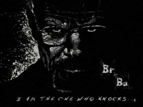 NEW LARGE BREAKING BAD I AM THE ONE WHO KNOCKS AMC PICTURE ART PRINT POSTER