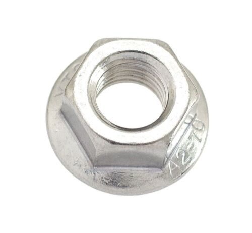 M8-1.25 or 8mm x 1.25 A2 Stainless Serrated Flange Lock Nut Spin Wiz Nuts 160
