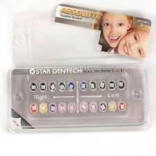 "Dental Ortho Ceremic Bracket Brace Sapphire ABSOLUTE Mini Roth 022""Slot 3 Hooks"