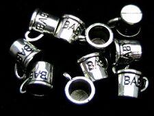 10 Pcs Tibetan Silver Baby Cup Mug Children 3d Christening Charm Boy Girl N82