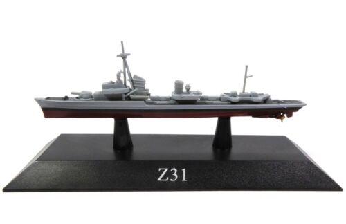 German Z31 Destroyer 1942 KS64 Deagostini 1//1250 New in a blister 20-30 sm
