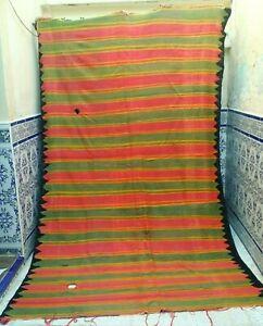 Vintage-Handmade-Moroccan-Old-Kilim-Rug-Tribal-azilal-wool-Berber-9-039-5-034-x-5-039-5-034