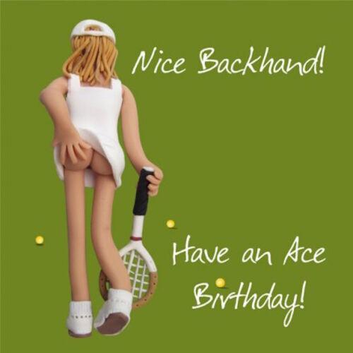 "HOLY MACKEREL /""NICE BACKHAND!..ACE BIRTHDAY/""  BIRTHDAY CARD 1ST P/&P"
