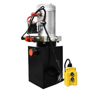 Double Acting Hydraulic Pump 12v Dump Trailer 3200 PSI Max 6 Quart Double