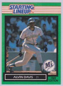1989  ALVIN DAVIS - Kenner Starting Lineup Card - SLU - SEATTLE MARINERS
