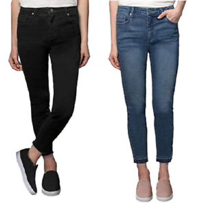 Kenneth Cole Women/'s Jess Skinny Mid-Rise Ankle Jeans