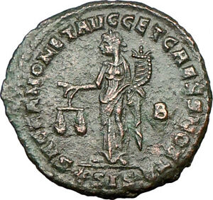 CONSTANTIUS-I-Constantine-I-father-Ancient-Roman-Coin-Funds-Protectress-i18737