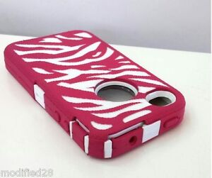 iPhone-4-4S-Hybrid-Defender-Case-Zebra-Pink-White-Build-In-Screen-Protector
