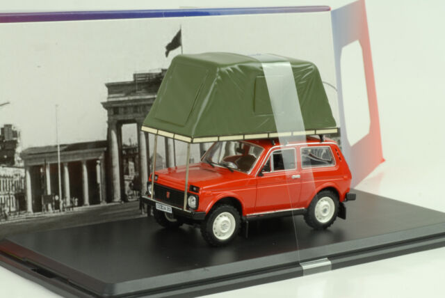 1981 Lada Niva with Tent on Roof Red 1:43 Ist