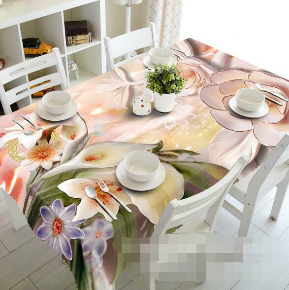 3D Flowers 88 Tablecloth Table Cover Cloth Birthday Party Event AJ WALLPAPER AU