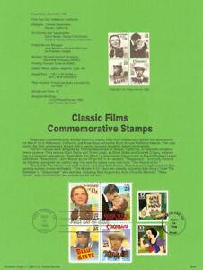 USPS-Souvenir-Page-9008-w1939-Movies-2445-2448-w-GWTW-amp-Snow-White-CTC-w-FDC