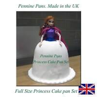 3D FULL SIZE BARBIE Princess cake tin Set Mould  bake Pan Doll  Dress Fondant