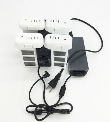 for DJI Phantom 3 4-in-1! Intelligent Battery Manager Multi Battery Charging Hub