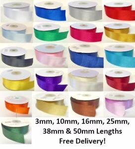 Double-Faced-Satin-Ribbon-High-Quality-3mm-10mm-16mm-25mm-38mm-50mm-Cut-Lengths