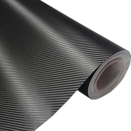 3D Carbon Fiber Black Car Body Door Cover Anti Scratch Sticker 3506 400 x 20cm