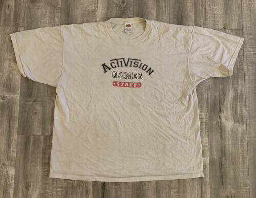 Vintage Early 00s Activision Games Staff Shirt Siz