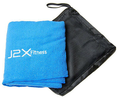 J2X Fitness Large Microfibre Sports Gym Camping Triathlon Swimming Travel Towel