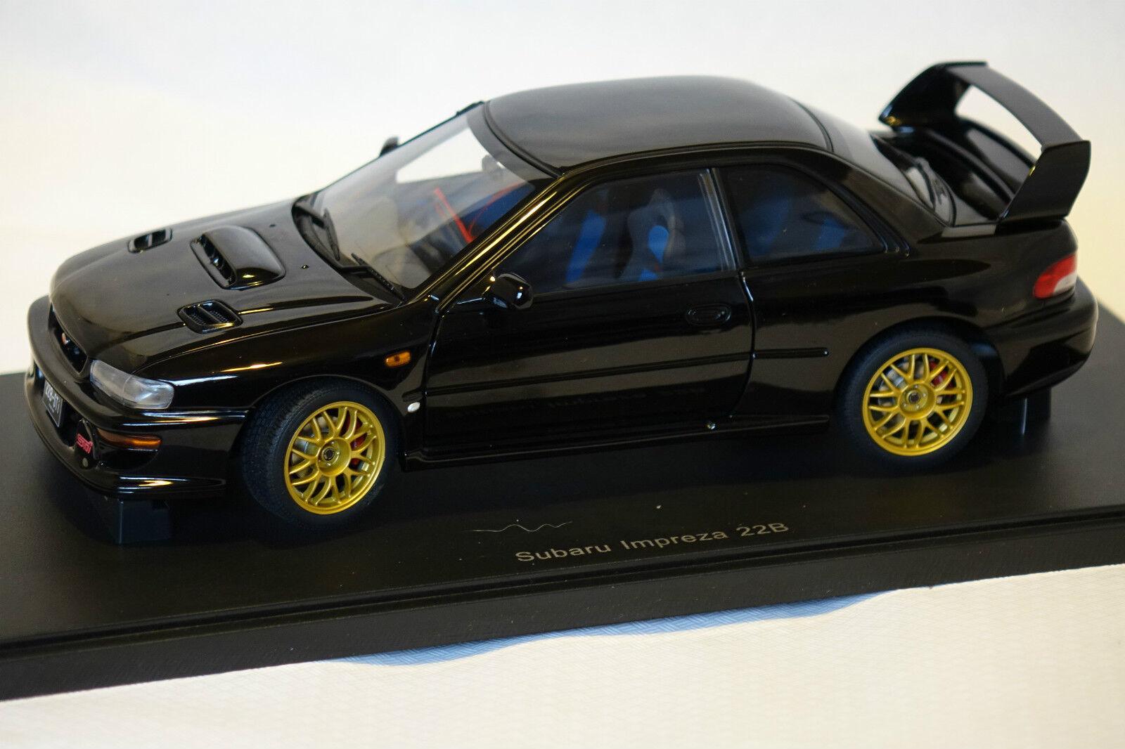 Subaru Impreza 22B-STI 1998 Nr.1048 of 1500 black 1 18 AUTOart neu & OVP 78603