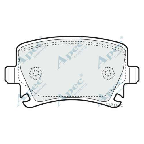 Fits Audi A6 C6 2.0 TDI Genuine OE Quality Apec Rear Disc Brake Pads Set