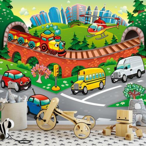 FOTOTAPETE Tapete WANDBILDER XXL 15F0397760 Auto Kinderzimmer Junge Für Kinder