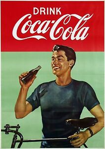Image Is Loading COCA COLA VINTAGE RETRO POSTER 24 034 X