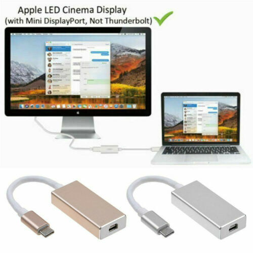 Type-C to Mini Displayport Adapter 4K HD USB-C to DP Converter Adapter Connector