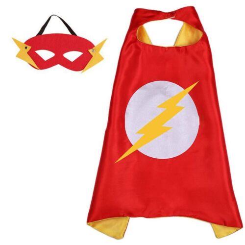 Flash Costume Cape and Mask Set Kids DC Comic Superhero Dress Up