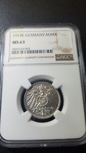 Germany 1914E Mark UNC NGC MS63