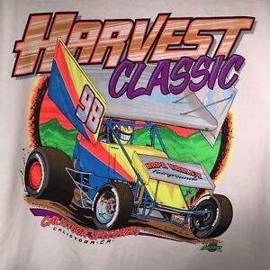 Calistoga-Speedway-XL-Harvest-Classic-98-T-Shirt-NARC-SCRA-Dirt-Track-Racing-NOS