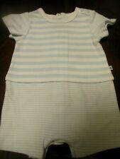 Bon bebe baby boys white and blue rocket footie size 0-3 M