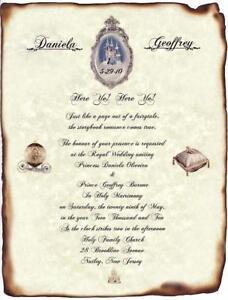 qty 50 fairytale castle cinderella wedding scroll invitations