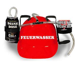 Trinkhelm Party Helm saufen Karneval Fasching Fete Feuerwasser 51604 rot