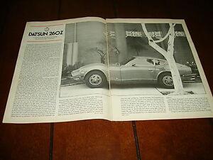 1974-DATSUN-260Z-ORIGINAL-ARTICLE-ROAD-TEST-SPECIFICATIONS