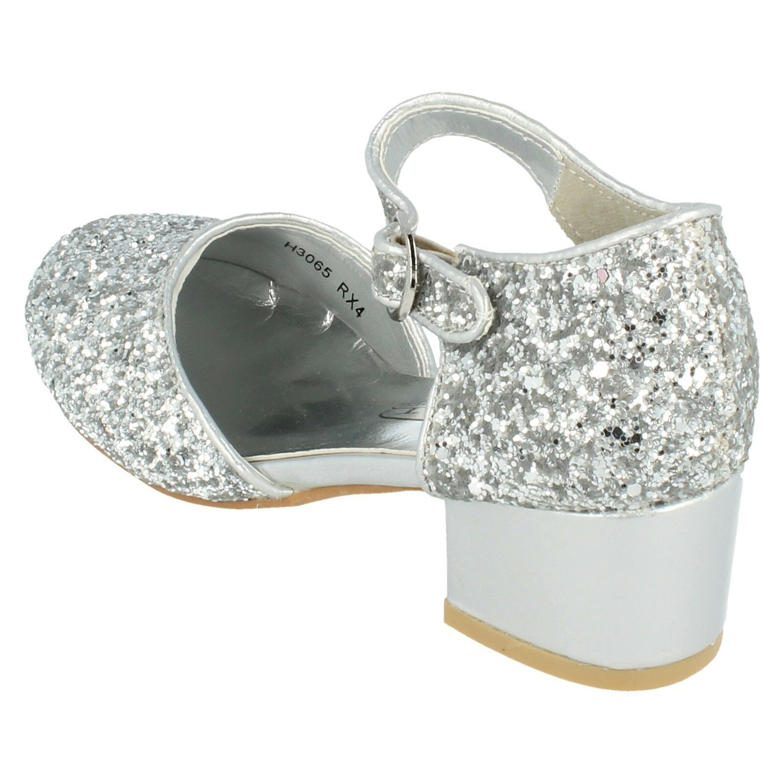 6b5dae761b Girls H3065 Glitter Court Shoe by Spot On Retail Price £17.99