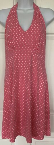 Talbots Petites Cotton Blend Halter Dress Shelf Br