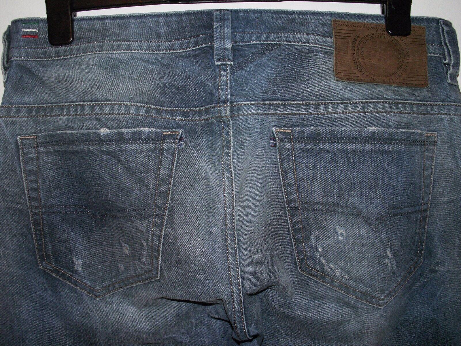 DIESEL THAVAR-UK slim-Jeans Skinny Fit Lavaggio 0813L W32 L32 (a2155)