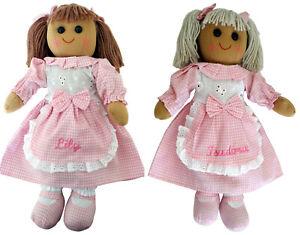Personalised-40cm-Rag-Doll-Baby-Girl-Christening-Birthday-Bridesmaid-Gift-Toy