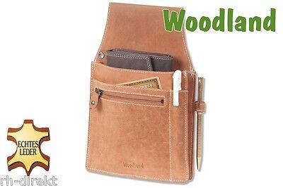 Woodland® Kellnerbörsen Holster mit vielen Fächern aus Büffelleder in Braun