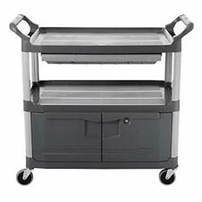 Rubbermaid Commercial Xtra Instrument And Rolling Utility Cart Gray With Drawe