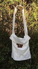 LARP SCA huge linen forage shoulder bag button top 50x48cm civil war renactment